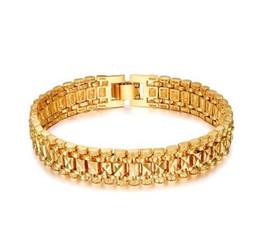 $enCountryForm.capitalKeyWord UK - Chunky Mens Hand Chain Bracelets Male Bracelet Wholesale Bijoux Silver Color Chain Link Bracelet 20 CM Men pulseira masculina