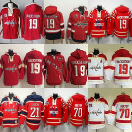 918f965de Hot Sale Mens Washington Capitals 19 Nicklas Backstrom 21 Brooks Laich 70  Braden Holtby Cheap Embroidery Ice Hockey Hoodies