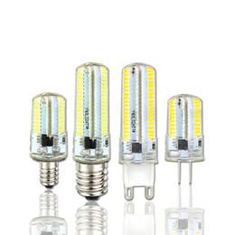Chandeliers dimmable lights online shopping - Led Light G9 G4 Led Bulb E11 E12 Dimmable Lamps V V Spotlight Bulbs SMD Leds light Sillcone Body for chandelier