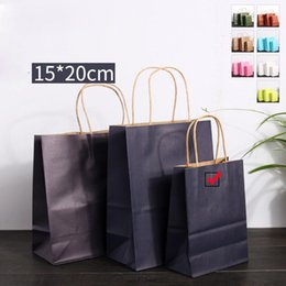 $enCountryForm.capitalKeyWord Australia - Kraft Paper Gift Bags Dark Blue 2019 New Arrival Tote Bag Handle Shopping Bag Hand Carry Pouch Gift Bag for Birthday Christmas Holiday Gift