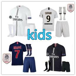 New 2019 Third PSG Black White Soccer Jerseys MBAPPE 3rd Kits 18 19  CHAMPIONS LEAGUE CAVANI Paris 2018 Football Shirts Uniform Men Sets 6ae4d0818