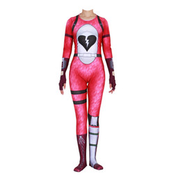 China Cosplay Game Fortnite Cuddle Team Adult Women Costume Halloween Party Dance Superhero Suit Plugsuit Jumpsuits Catsuit Zentai suppliers