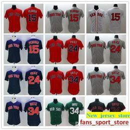 749e3d750 2019 Men s 15 Dustin Pedroia 24 David Price 34 David Ortiz Jerseys red  color red gray black blue green baseball jerseys top quality