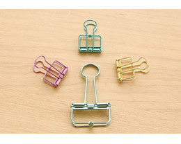 $enCountryForm.capitalKeyWord Australia - 5.6*3.2cm Cute Kawaii Colorful Metal Paper Clips Binder Clip For Photo Message Ticket File Office School Supplies Clips Stationery