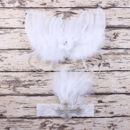Wholesale New Infant Newborn Baby Kids Angel Fairy Feather Wing Costume Photo Prop for Children s Day Gift Present Party Supplies BAW43