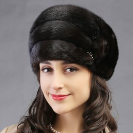 6fecca9ae255f Wholesale- 2015 autumn winter Super warm below zero show women real fur  lovely Russian style cap lady luxur fur hat famous band new