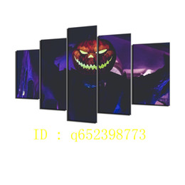 $enCountryForm.capitalKeyWord UK - Jack Lantern 5 Pieces HD Canvas Printing New Home Decoration Art Painting  Unframed   Framed