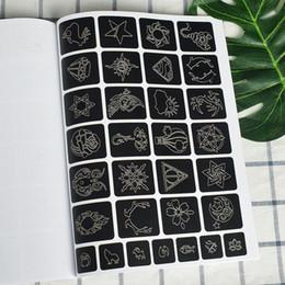 352pcs small glitter tattoo stencil woman female kids cute drawing templates cat flower letter airbrush henna tattoo stencils