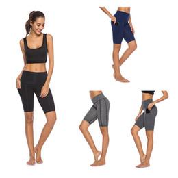 $enCountryForm.capitalKeyWord NZ - Calf-length Pants Capri Pant Sport leggings Women Fitness Yoga Gym High Waist Legging Girl Black Mesh 1 2 Yoga Pants women