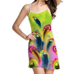 43b2d26cd854 Womens Print Sleeveless Camisole Casual Bench Mini Dress bohemian Dresses  wrap female clothes dames kleding