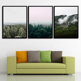 Nursery Room Art Prints Australia - Nordic Posters Nursery HD Tree Landscape Wall Art Canvas Prints Simple For Baby Room Painting Picture Kids Bedroom Decoration