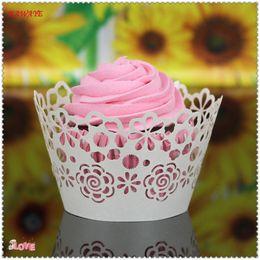 $enCountryForm.capitalKeyWord Australia - New Cup cake paper 50pcs Vine Lace Laser Cut Cupcake Wrapper Liner Baking Cup Muffin cake tool Snowflake Xmas Decor 9ZC12