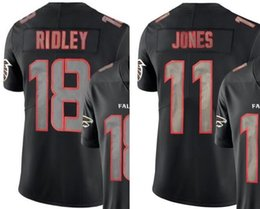 Men Atlanta 18 Jersey 11 Jerseys Embroidery and 100% stitched Impact Black  Color Rush Limited American Football Shirts a7a0ef275