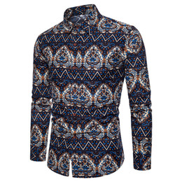 Shirt clearance online shopping - Mens Print Shirts Long Sleeve Casual Button Down Clearance Shirts For Men High Collar Big And Tall Large Size