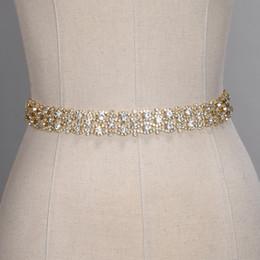 Ceintures de mariage à la main en cristal doré argent strass robe de mariée ceinture accessoires de mariage formel ceinture de ceinture de ruban de mariée CPA1393
