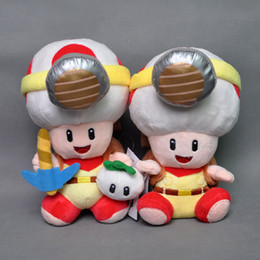 """$enCountryForm.capitalKeyWord Canada - Hot New 2 Styles 7.5""""-8"""" 19CM-20CM Super Mario Bros Sitting Standing Toad With Backpack Plush Doll Anime Stuffed Dolls Best Gifts Soft Toys"""