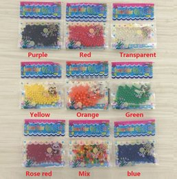 Magic jelly balls online shopping - Newest beautiful Pearls Crystal Water beads ball Flower Plant Crystal Soil Gel Jelly Party Wedding Décor magic Jelly Water beads GC65