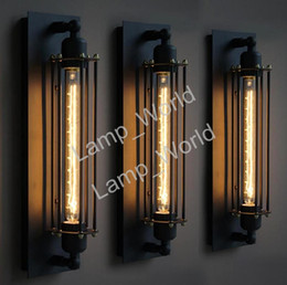 Wire lamp cage online wire lamp cage for sale free shipping black metal industrial mini wire cage wall lamps sconce shade bulbs not included for bedroom hallway coffee bar keyboard keysfo Images
