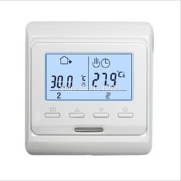 Chinese  M6.716 220V 16A LCD Programmable Electric Digital Floor Heating Room Air Thermostat Warm Floor Controller manufacturers