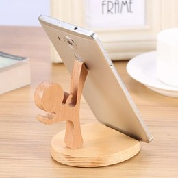 Discount wooden stand for tablets - VBESTLIFE Car Phone Holder Wooden Anti-skid Lightweight Phone Stand Holder GPS Bracket For All Mobile Phone Tablet Pad U