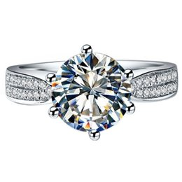 $enCountryForm.capitalKeyWord Canada - Guarantee Silver 925 2carat Star Simulate Diamond Ring Engagement Sterling Silver Ring Plated White Gold 18K Semi Mount Paved S923