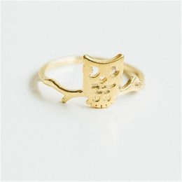 $enCountryForm.capitalKeyWord NZ - 2018 Wholesale rings for girls Fashion standing on the branch of the owl rings Gold-color rings for women mixed color wholesale