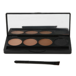 Eyebrow Powder Kit Wholesale UK - 2018 New Hot Professional 4 Colors Eyebrow Powder Palette Makeup Contouring Kit for Salon and Daily Use