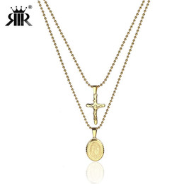 $enCountryForm.capitalKeyWord NZ - RIR Gold Virgin Mary Pendant Necklace Multilayer Chain Charm Religious Style Jewelry Accessories Women's Fashion