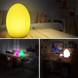 Cordless Remote Control Australia - LED Night Lights, Shape Light, Rechargeable and Cordless Decorative Light with 16 RGB Colors and Remote Control, 8-Inch Egg Shape