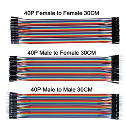 Discount arduino dupont wire - Free shipping ! Dupont line 120pcs 30CM male to male + to female and female jumper wire Dupont cable for Arduino