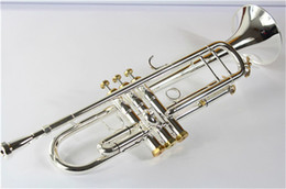 Chinese  New FREE Senior Bach Silver Plated Trumpet LT197G Small Brass Musical Instrument Trompeta Professional High Grade. manufacturers