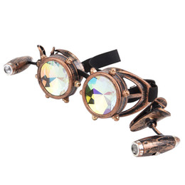 $enCountryForm.capitalKeyWord UK - LED Light Goggle Kaleidoscope Punk Glasses Men Women Party Hippie Sunglasses Steampunk Gothic Goggles Round Sun Glasses Colorful Lens