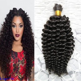 Crochet Braiding Human Hair Australia - Mongolian Kinky Curly Afro Crochet Braids Loose Curly Hair Style 100g Human Braiding Hair Bulk Curly 1pcs Human Braiding Hair
