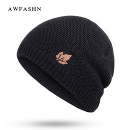 Warmest Winter Hat For Men Canada - Winter beanies for men Brand Solid  Color Knit Beanie 70b3227c689