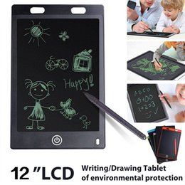 Tablet 12 NZ - Portable 12 Inch Digital Tablet LCD Writing Drawing Board Tablet Pad Notepad Electronic Graphics Pad with Stylus Pen