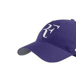 81d98e699b9e Best selling Wholesale promotional caps Cotton Sports Cap Snapback Women  and men Baseball Cap Roger Federer RF Hybrid Hat