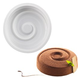 $enCountryForm.capitalKeyWord UK - Round Vortex Spiral Shape Silicone Mold For Cake Decorating Tool DIY Baking Mousse Brownie Chiffon Sponge Cakes Molds