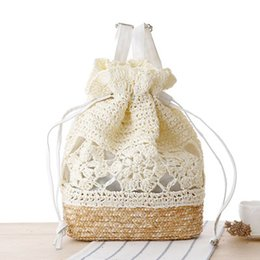 crochet japan UK - Japanese handmade crocheted backpack straw woven bags woven bag Sen Department of Tourism holiday leisure handbags