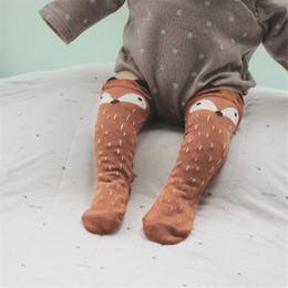 Boys Toddlers Socks NZ - 1 Pair Unisex Lovely Cute Cartoon Fox Kids baby Socks Knee Girl Boy Baby Toddler Socks animal infant Soft Cotton socks free shipping 2018