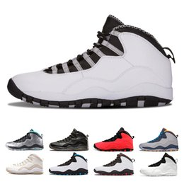 Steel art tableS online shopping - 10 s Mens Basketball Shoes sneaker West New Cement I m back Chicago Cool Grey Powder Blue Steel Grey black Men Sports Sneakers Shoes
