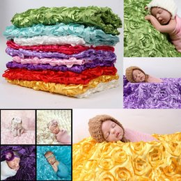 Christmas baCkdrops props online shopping - 130 CM Newborn Photography Props rose rug Baby Photo D Rose Flower Backdrop Blanket Autumn Floral Christmas Gifts styles FFA908