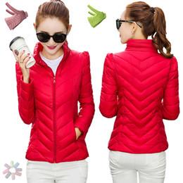 Winter Down Parkas NZ - Short Winter Jacket Coat Women White Duck Down Parkas 2016 Thin Slim Warm Solid Korean Ultralight Female Ladies Outwear Overcoat
