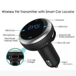 Cars Flash Drive NZ - Nulaxy FM Transmitter Dual USB Car Charger Handsfree Car Kit MP3 Player Wireless FM Modulator Support TF Card USB Flash Drive