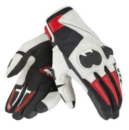 Venta al por mayor de Guantes de moto Mig C2 Dain Short Guantes de moto Team Racing Riding Negro / Blanco / Rojo