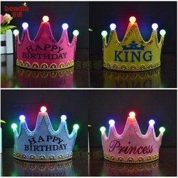 Double crown hair online shopping - Birthday Lights Crown Hats Children Adult Party Caps Double Layer Thicker Princess Hair Cap Festive Party Event Hats Supplies