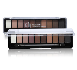 Chinese  Waterproof Professional Bright Makeup Color 10 Colors Eyeshadow Palette Glitter Eye Palette Maquiagem Matte Silky Pigments Eye Shadow manufacturers