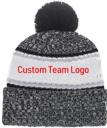Sports Teams Logos NZ - Discount Cowboys Beanie with Team Logo Sideline Cold Weather Graphite Official Revers Sport Knit Hat winter Knitted Wool Skull Cap 01