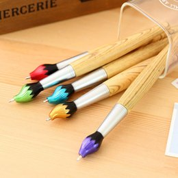 $enCountryForm.capitalKeyWord Australia - FangNymph Cute Kawaii Wooden Ballpoint Pen Creative Ball pens For Kids Writing Students Children School Gift Novelty Stationery