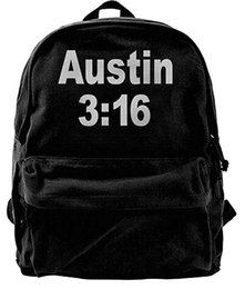 rock canvas prints UK - Stone Cold Kevin Love Rocking Austin 3 16 Canvas Shoulder Backpack Awesome Mountain Backpack For Men & Women Teens College Travel Daypack