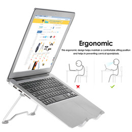 adjustable support tablet 2019 - 10pcs Portable Laptop Stand Foldable Holder Notebook Support Adjustable Desktop Bracket for tablets MacBook Air Pro chea